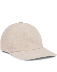 Lock & Co Hatters Rimini Linen Baseball Cap