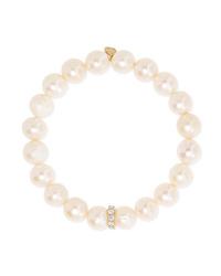 Sydney Evan 14 Karat Gold Pearl And Diamond Bracelet