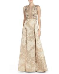 Beaded jacquard ballgown medium 963894