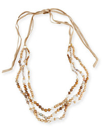 Three strand beaded necklace medium 5380485