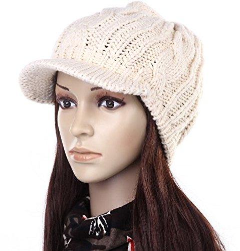 Funny Hat Caps Beanies Skullies Fedoras Berets Dress: Andi Rosetm Slouch Beanies Button Hats Knitted Crochet