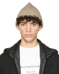 Undercover Beige Ribbed Beanie