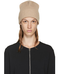 Stella McCartney Beige Ribbed Beanie