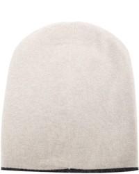 Brunello Cucinelli Contrasting Trim Slouchy Beanie Hat