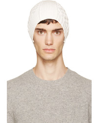 Ecru cable knit beanie medium 655321