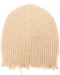 MSGM Frayed Ribbed Beanie
