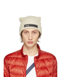 Moncler Off White Knit Beanie