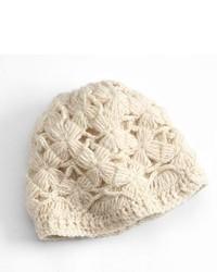 SIJJL Flower Crochet Wool Beanie