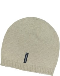 Armani Jeans Solid Pure Cashmere Beanie Hat