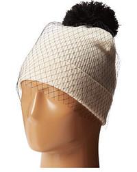 Betsey Johnson Veil Beanie Hat