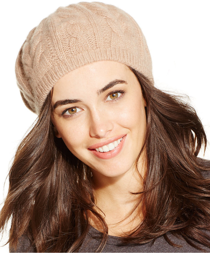 Charter Club Cashmere Cable Beret Only At Macys