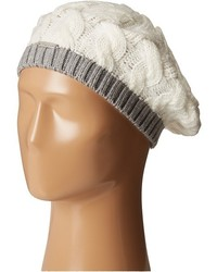 Calvin Klein Contrast Rib Cable Beret