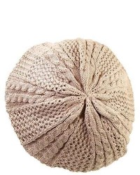 CTM Pattern Knit Beret By Beige One Size