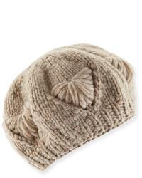 Il Borgo Cashmere Knit Beret Hat
