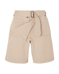 JW Anderson Belted Cotton Drill Shorts