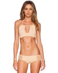 Beige Bikini Top