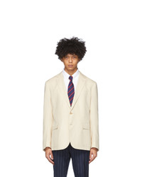 Ralph Lauren Purple Label Beige Twill Hadley Blazer