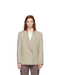 Low Classic Beige Wool Double Blazer