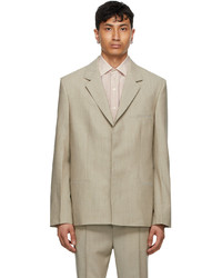 Tom Wood Beige Wool Soft Blazer