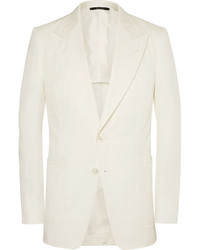 Tom Ford Cream Shelton Cotton Twill Suit Jacket