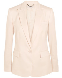Stella McCartney Ingrid Grain De Poudre Wool Blazer Ecru