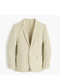Ludlow unstructured cotton linen blazer in khaki sand medium 643664