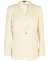 Maison Margiela Wool Blend Blazer Cream