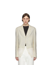 Haider Ackermann Off White Knit Hem Blazer