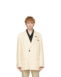 Solid Homme Off White Twill Blazer