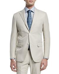 Two piece cotton suit beige medium 446450