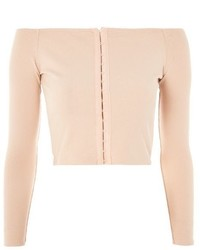 Topshop Hook Eye Bardot Top