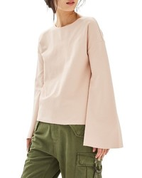 Topshop Split Back Bell Sleeve Top