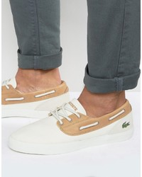 Lacoste Jouer Deck Boat Shoes