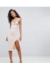 Asos Tall Asos Design Tall Sequin Bra Top Midi Bodycon Dress