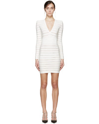 White deep v bandage dress medium 526930