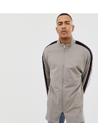 ASOS DESIGN Asos Tline Track Jacket With Velour Stripe