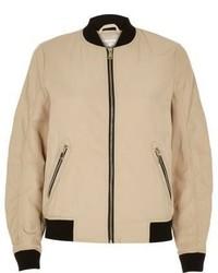 Beige bomber jacket medium 656342