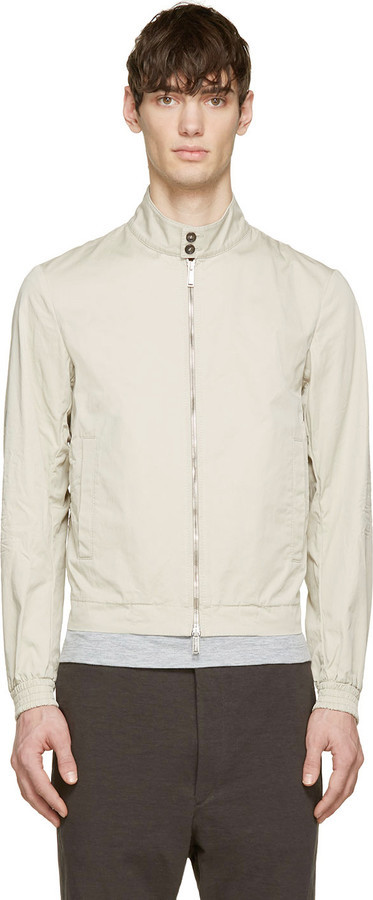 DSQUARED2 Beige Cotton Light Summer Bomber Jacket | Where to buy ...