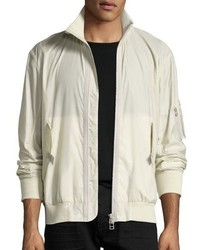 Translucent tech bomber jacket beige medium 3729247