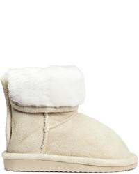 H&M Pile Lined Boots Light Beige Kids