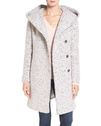 Cole haan signature hooded boucle coat medium 1126470