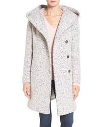 Signature hooded boucle coat medium 1126470