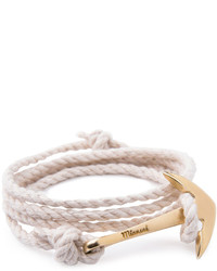 Anchor rope bracelet natural medium 608730