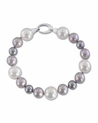 Gray white nuage pearl bracelet medium 3651699