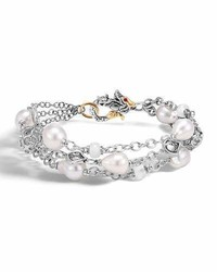 Legends naga baroque pearl three row bracelet medium 3651354