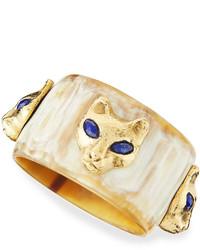 Ashley Pittman Machozi Bangle With Leopards Light Horn