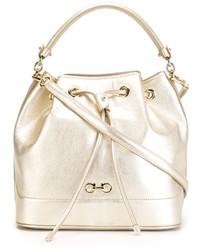 Salvatore Ferragamo Bucket Drawstring Shoulder Bag