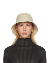 Jil Sander Beige Faille Bucket Hat