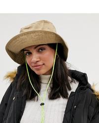 Bershka Bucket Hat In Beige