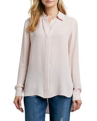 Beige button down blouse original 4299847